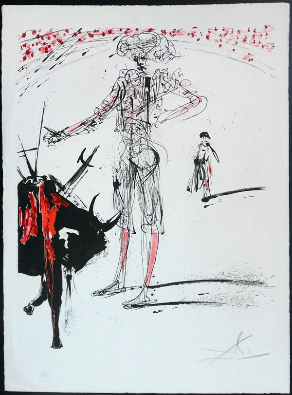 Salvador Dali - Tauromachie (Bullfight I) - I