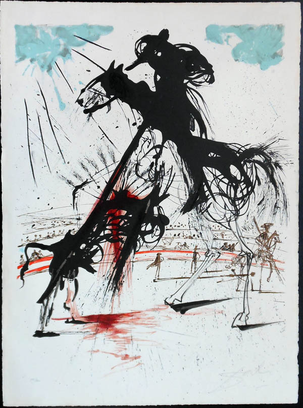 Salvador Dali - Tauromachie (Bullfight I) - V