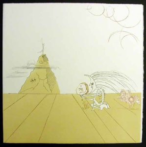 Salvador Dali - Neuf Paysages - Pysage Fossile Imaginaire