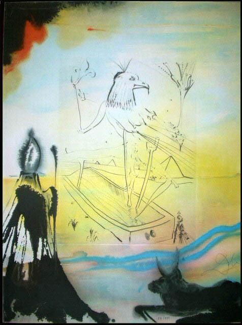 Salvador Dali - Moise et Monotheisme - Engulfment of Horus