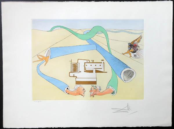 Salvador Dali - Hommage to Leonardo da Vinci - Catalytic Cracker
