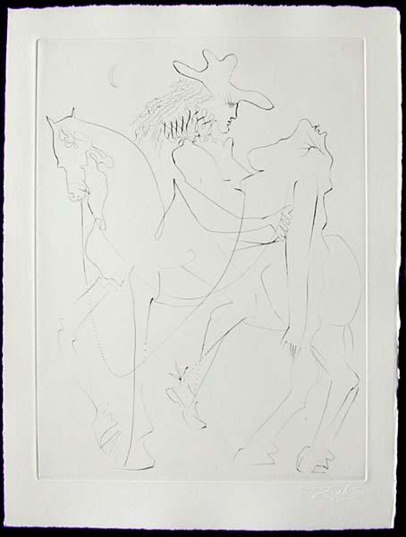 Salvador Dali - Les Amours de Cassandre - Cheval Picasso