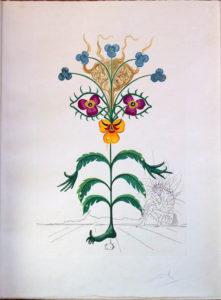 Salvador Dali - Flora Dalinae (FlorDali) - Viola Cogitans (Self portrait Pansy)