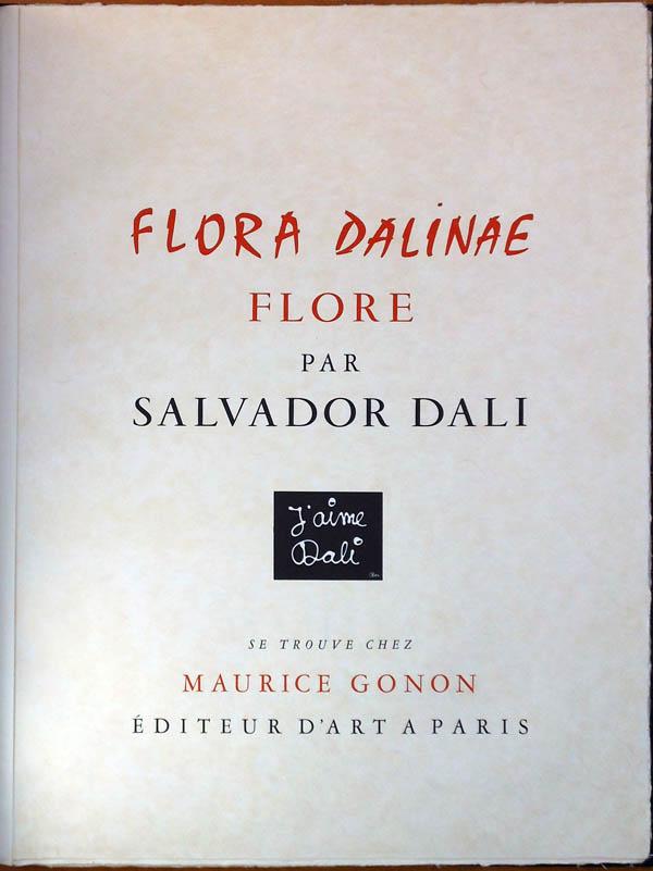 Salvador Dali - Flora Dalinae (FlorDali) - Title Page