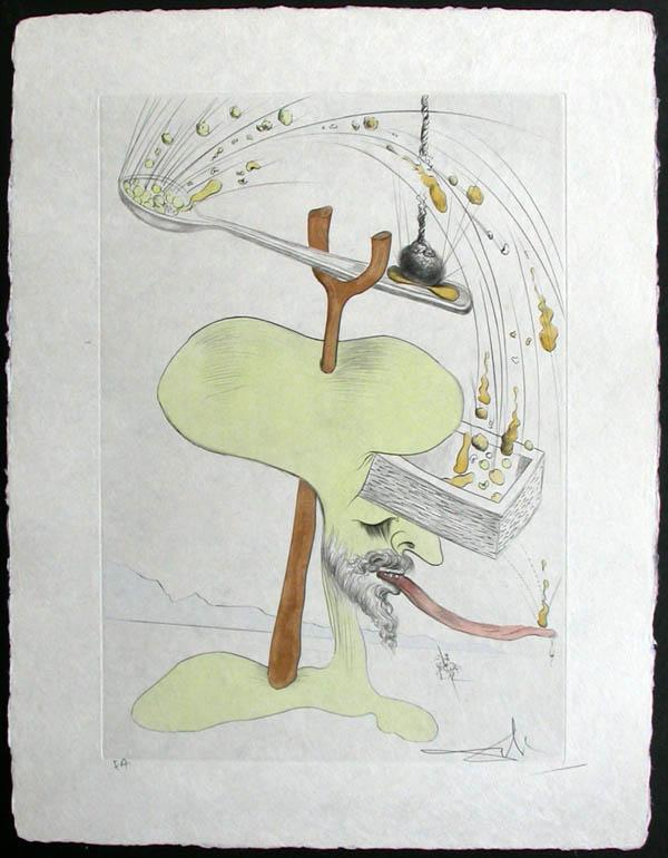"""Salvador Dali - Visions de Quevedo, """"Dalinian Fantasia"""" - Hommage a Quevedo"""