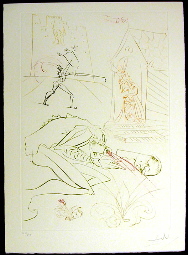Salvador Dali - La Quete du Graal - Fight Before la Dame de Malehout