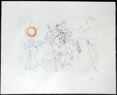 Salvador Dali - Famous Loves (Les Amours Celebres) - Caesar and Cleopatra
