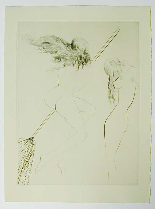 Salvador Dali - Faust - Sorcieres au balai