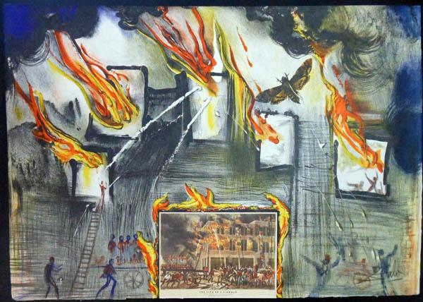 Salvador Dali - Currier & Ives - Fire, Fire Fire!
