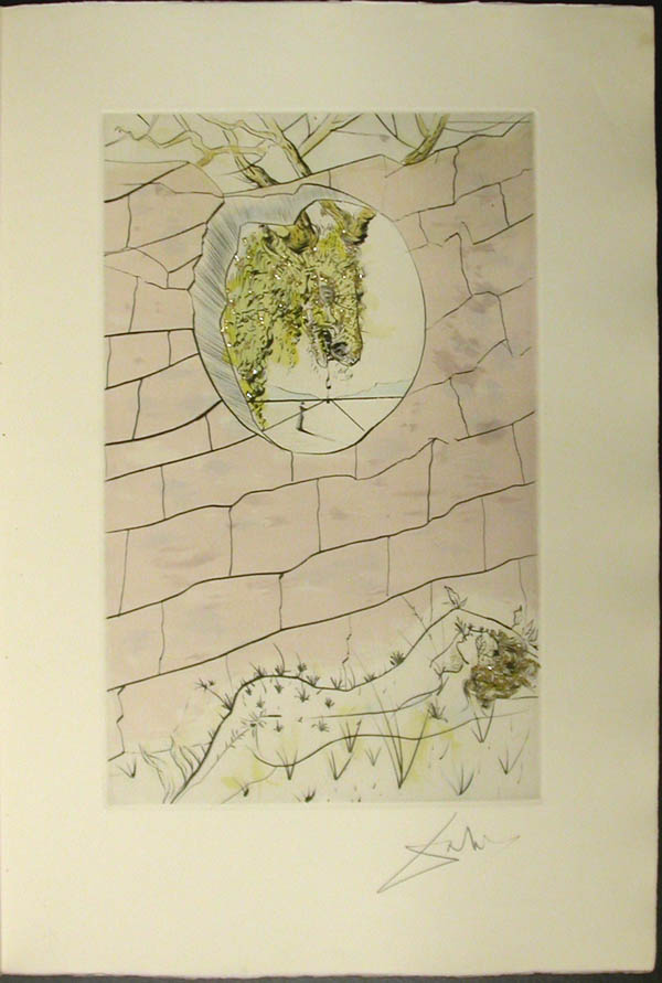Salvador Dali - Song of Songs of Solomon - The Beloved Looks Forth