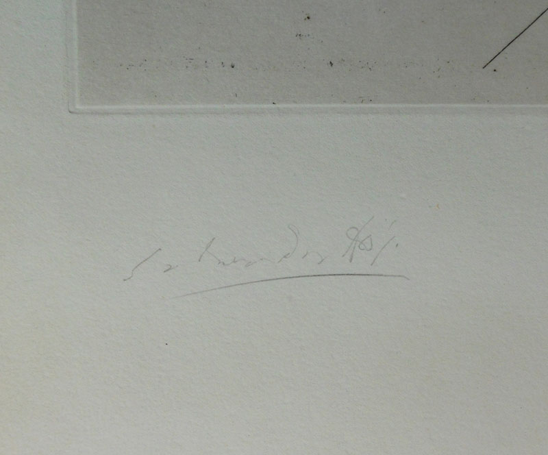 Salvador Dali - The Grasshopper Child (L'infant sauterelle) - Signature