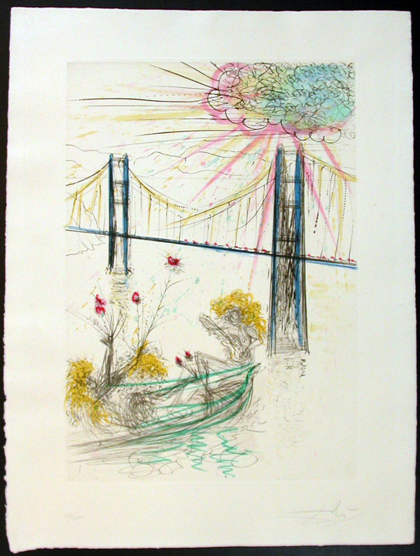 Salvador Dali - San Francisco - Golden Gate Bridge