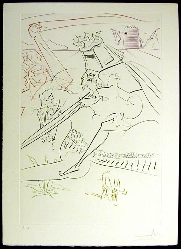 Salvador Dali - La Quete du Graal - The Black Knight