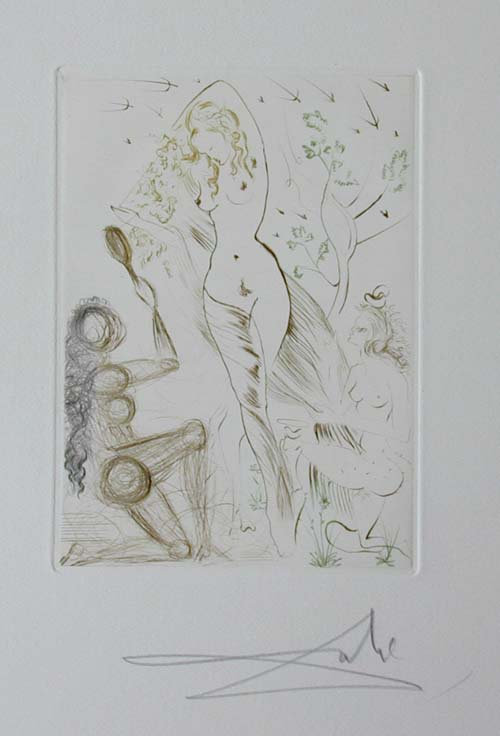 Salvador Dali - Le Decameron - Blanchefleur