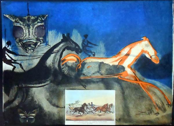 Salvador Dali - Currier & Ives - American Trotting Horses No. 2