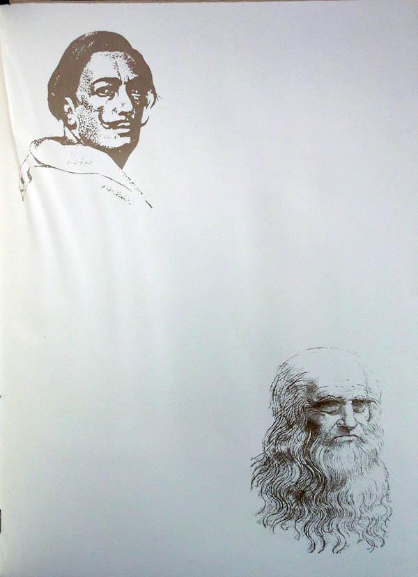 Salvador Dali - Hommage to Leonardo da Vinci - Inner Folio