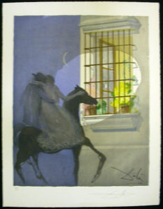 Salvador Dali - Carmen - Carmen and Don Jose Fleeing Horseback