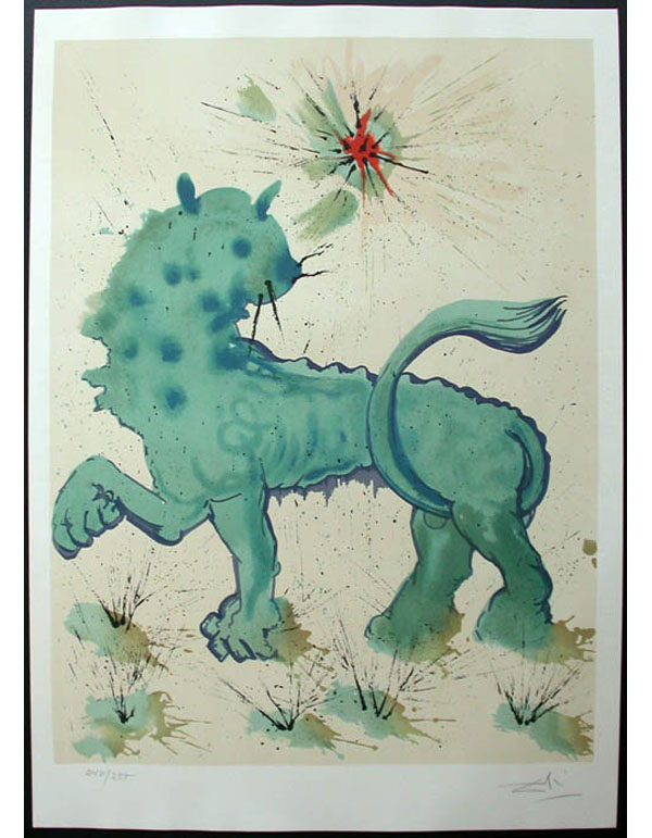 Salvador Dali - Twelve Signs of the Zodiac - Leo