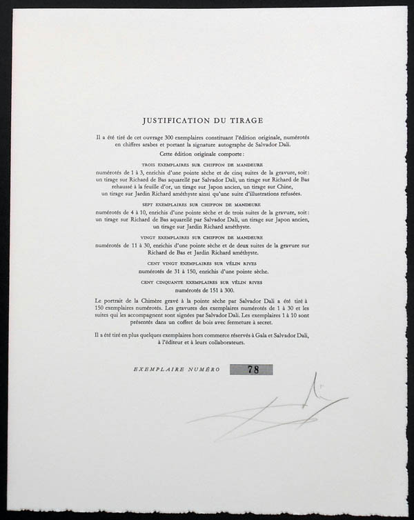 Salvador Dali - Les Metamorphoses Erotiques - Tirage Page