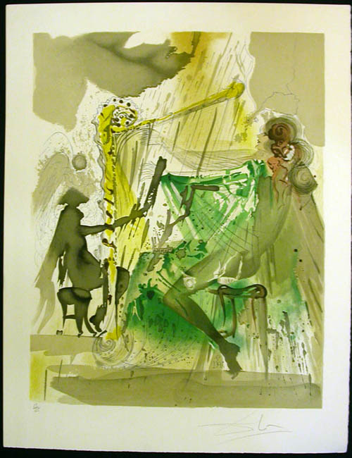 Salvador Dali - Carmen - The Harpist's Allegory of Carmen's Love