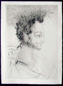 Salvador Dali - Les Amours de Cassandre - Portrait de Ronsard
