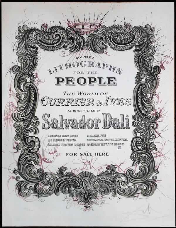 Salvador Dali - Currier & Ives - Dali's Presentation