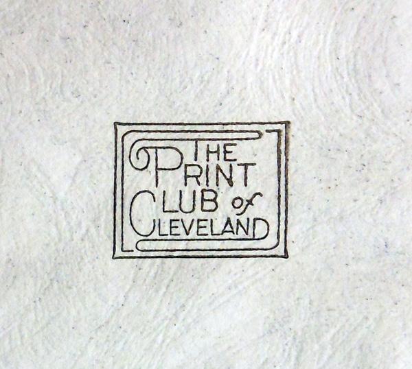 Salvador Dali - St. George and the Dragon - Print Club Stamp