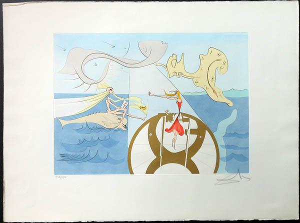 Salvador Dali - Hommage to Leonardo da Vinci - Sewing Machine