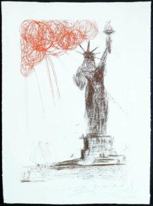 Salvador Dali - New York City - Statue of Liberty