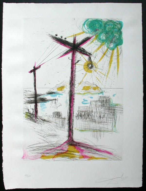 Salvador Dali - San Francisco - Telegraph Hill
