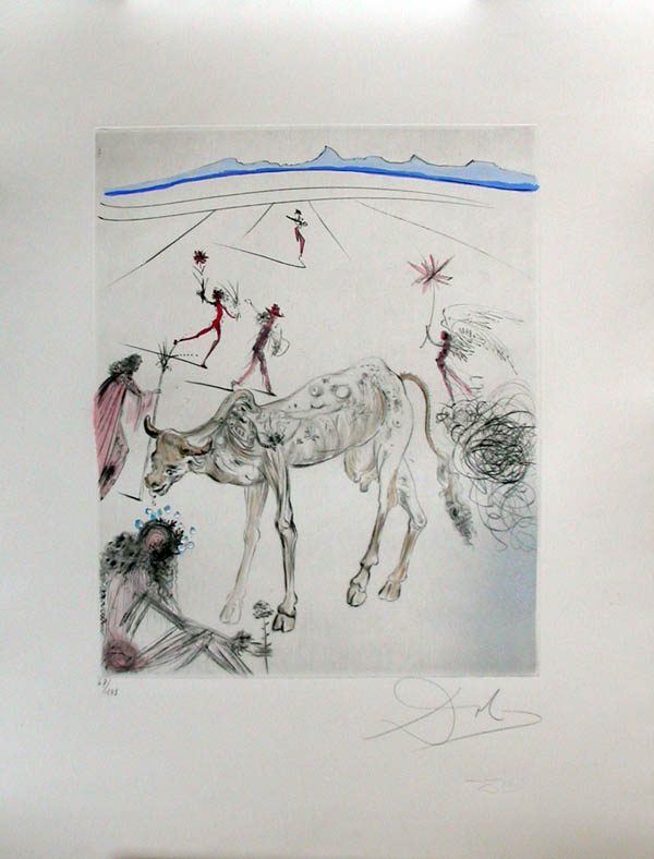 Salvador Dali - Hippies - The Sacred Cow, La vache sacree
