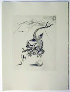 Salvador Dali - Poemes de Mao-tse-toung - The Green Dragon