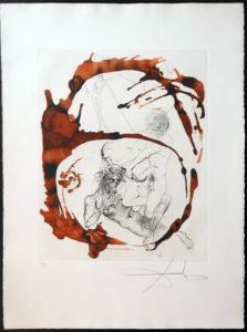 Salvador Dali - The Mythology - Theseus and the Minotaur