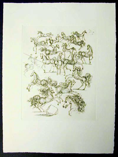 Salvador Dali - Poemes de Mao-tse-toung - The Small Horses