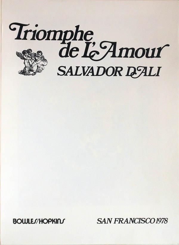 Salvador Dali - Triomphe de l'Amour (Triumph of Love) - Title
