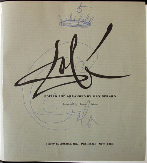 Salvador Dali - Dali by Max Gerard - Signature with drawing
