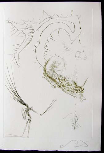 Salvador Dali - Tristan et Iseult - Tristan and the dragon