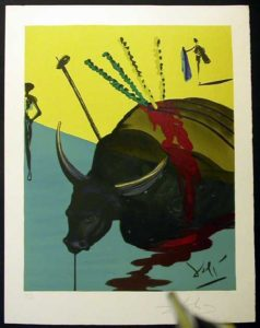 Salvador Dali - Carmen - The Bull is Slain