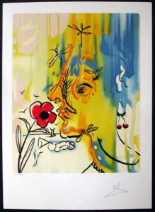 Salvador Dali - Fleurs Surrealistes (Flowers for Gala) - Vanishing Face