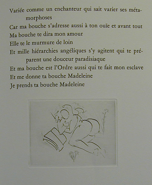 Salvador Dali - Secret Poems by Guillaume Apollinaire - From Nude at a Fountain