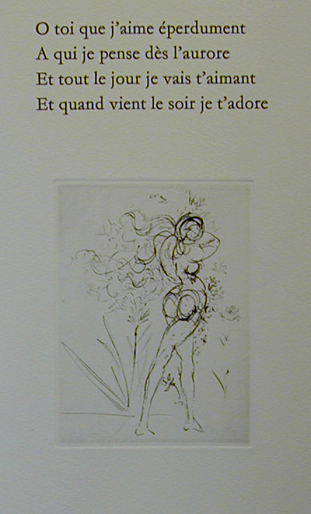 Salvador Dali - Secret Poems by Guillaume Apollinaire - From Nude, Horse and Death