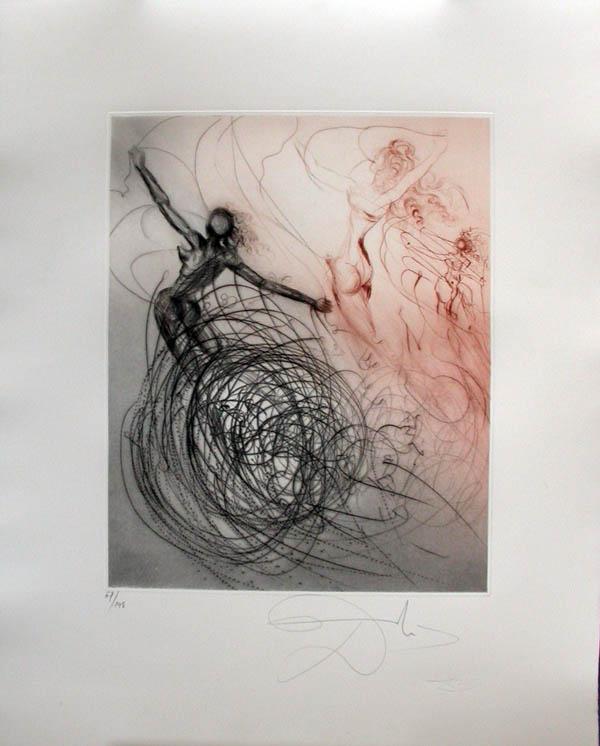 Salvador Dali - Hippies - Woman in the Waves, Les femmes dans les vagues
