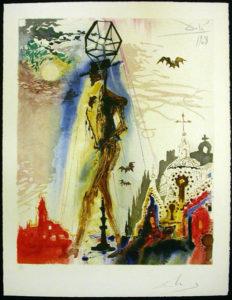 Salvador Dali - Carmen - Don Jose's final; Appearance:the Bats Symbolizing Death