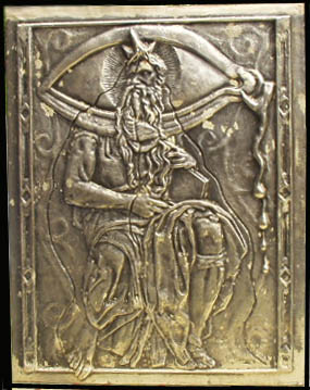 Salvador Dali - Moise et Monotheisme - Bas relief cover stamped from a marquette by Dali, signed
