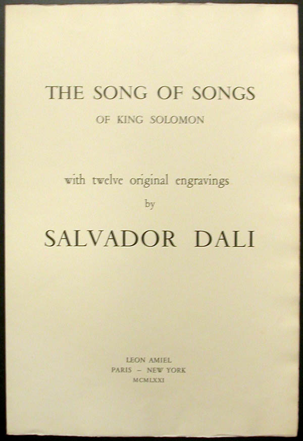 Salvador Dali - Song of Songs of Solomon - Title Page