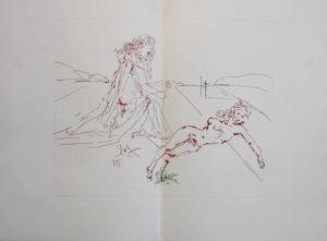 Salvador Dali - L'Art d'Aimer – Ovide - Double page etching