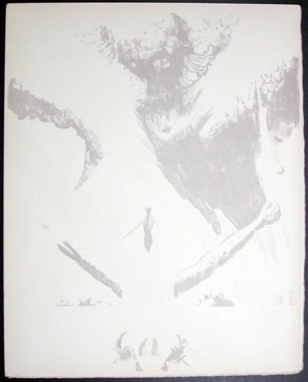 Salvador Dali - Don Quichotte de la Mancha, Book A - 1957 - L'ere atomique The atomic era - #7
