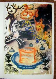 Salvador Dali - Alice in Wonderland - Who Stole the Tarts