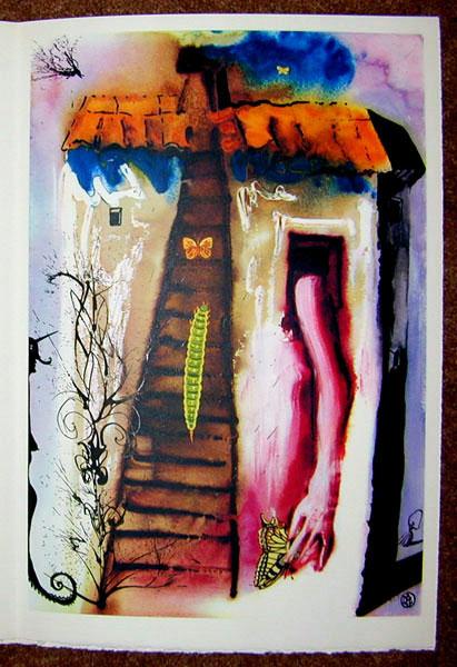 Salvador Dali - Alice in Wonderland - The Rabbit Sends in a Little Bill