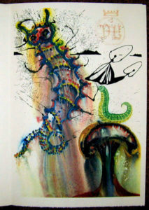 Salvador Dali - Alice in Wonderland - Advice from a Caterpillar
